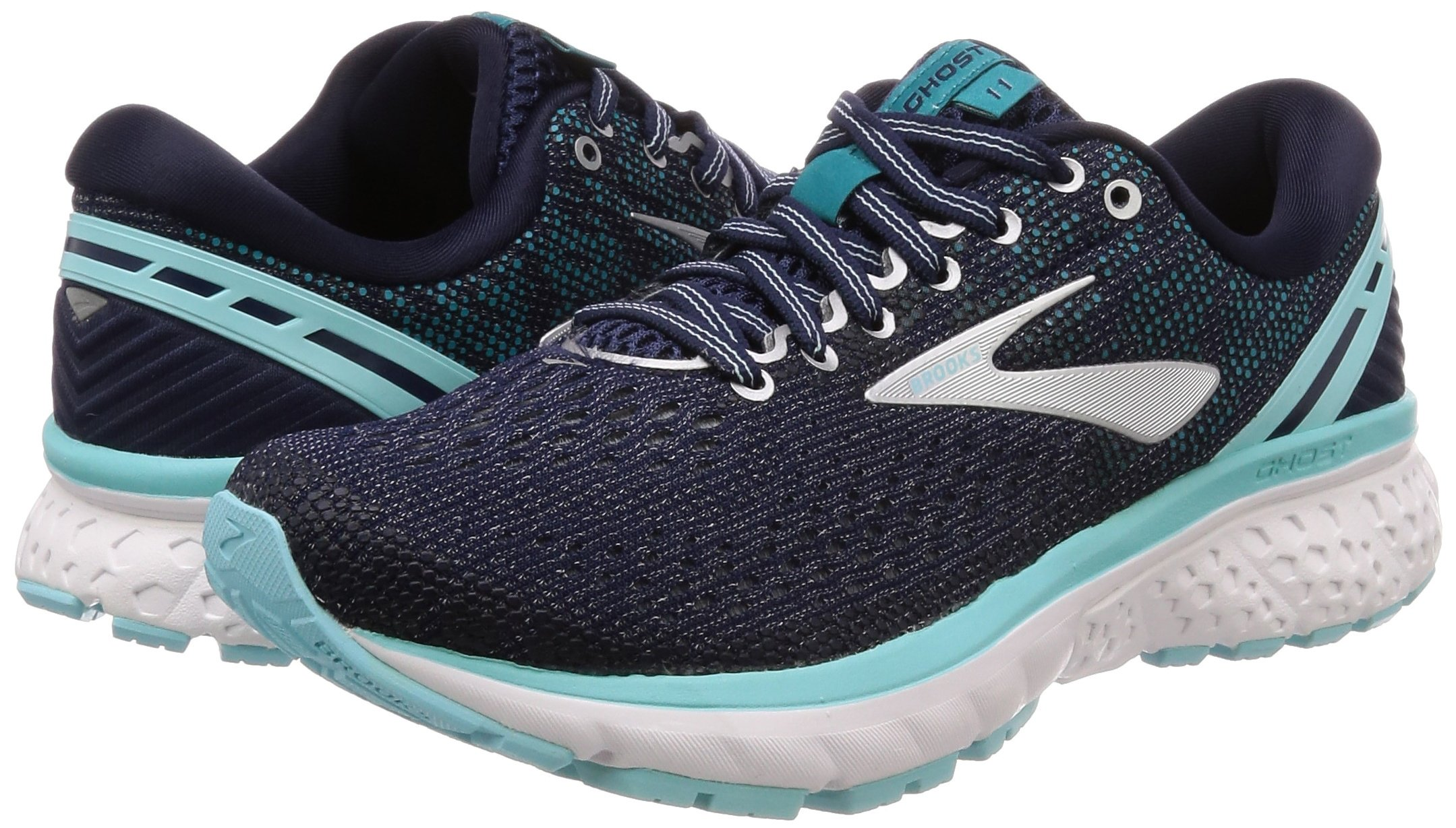 Brooks Womens Ghost 11 Running Shoe - Navy/Grey/Blue - D - 5.5 by Brooks (Image #5)
