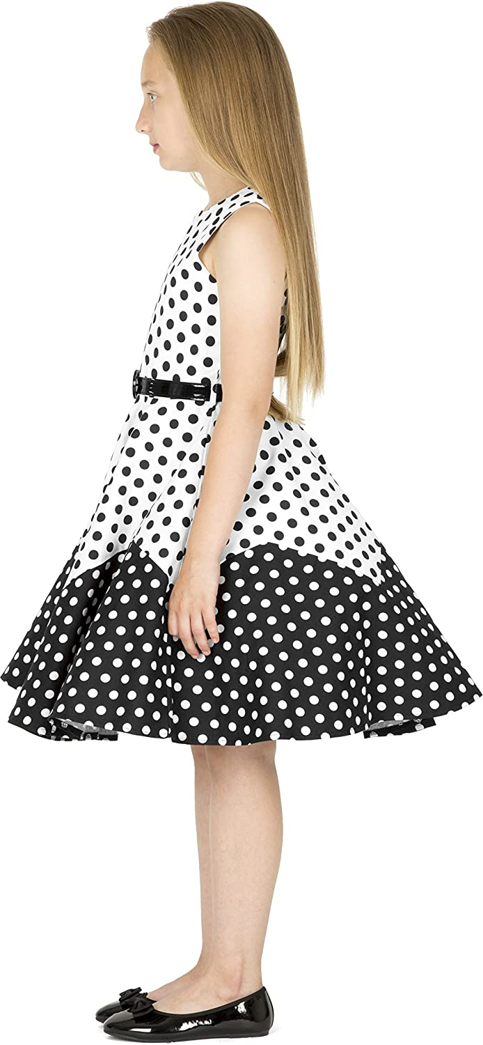 BlackButterfly Kids Amy Vintage Polka Dot 50s Girls Dress