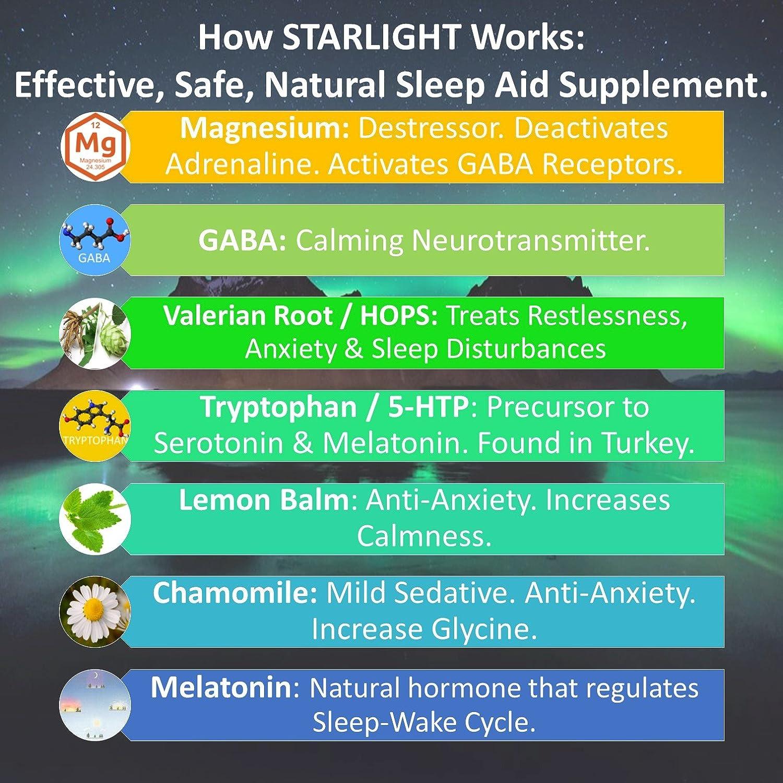Starlight 2 Pack - Natural Sleep Aid - Effective. Safe. Guaranteed - STARLIGHT (Serenity)...