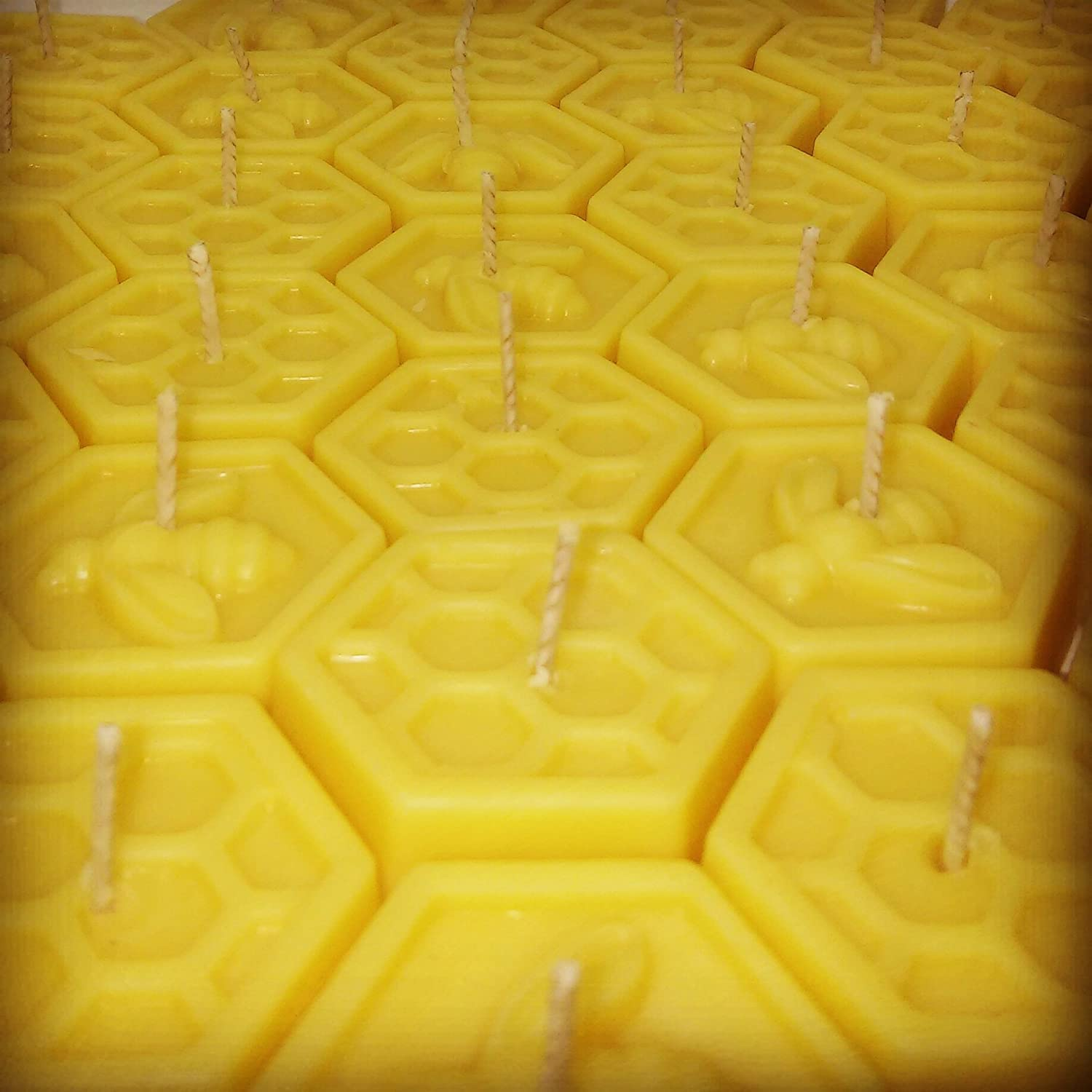 100% Pure Natural Organic Handmade Beeswax hexagon shaped Tea Light Candles Pack of 20 Deal