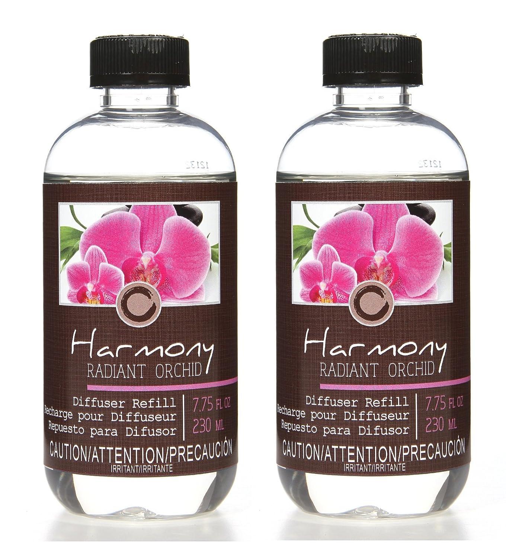 Hosley 'sセットof 2プレミアムRadiant Orchid Reed Diffuser Refillsオイル:フローラル&レモングラスノート。230 ml ( 7.75 FL OZ ) Made in USA。。一括購入。理想的なギフトや結婚式、スパ、レイキ、の瞑想   B07B5FC6NX