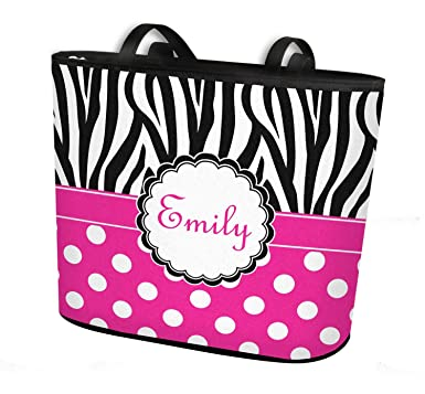 715db857b Image Unavailable. Image not available for. Color: Zebra Print & Polka Dots  Bucket Tote ...