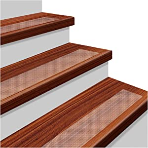 """YISUN 15-Pack Non Slip Stair Treads 24""""x 4"""" Anti Slip Clear Tape Adhesive Stair Mat Prevents Slips and Falls for Indoor Outdoor Skateboard Staircase"""