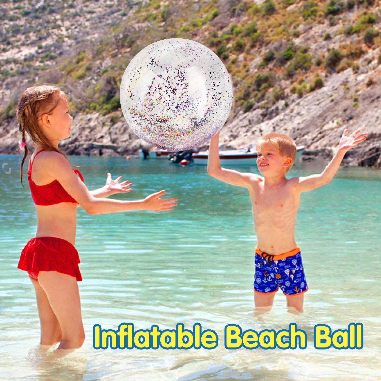HeySplash Pelota de Playa Inflable, (3 PZS) Gigante Pelota ...