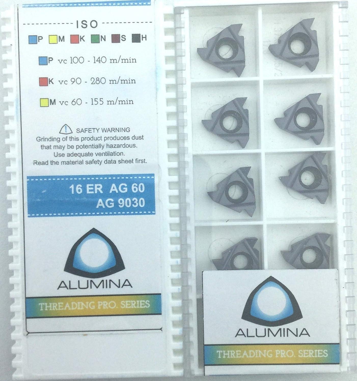 Alumina Carbide Threading Insert 3ER 16ER AG 60 AG9030 Pack of 10