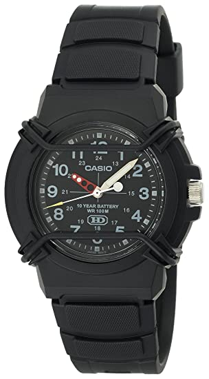 Casio HDA600-1BV - Reloj para hombres, correa de goma color negro