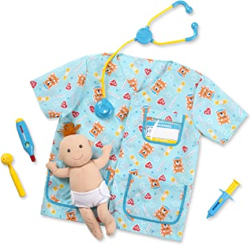 Melissa & Doug- Pediatrician Nurse Disfraz para Niños, Multicolor ...