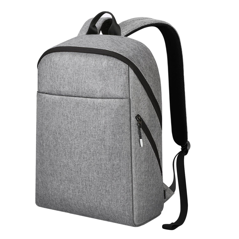 REYLEO Rucksack Herren und Damen 15.6 Zoll Laptop Tasche leichtgewichtiger Business Backpack mit viel Stauraum für Uni Reise und Arbeit Wasserabweisend grau KEI RB15