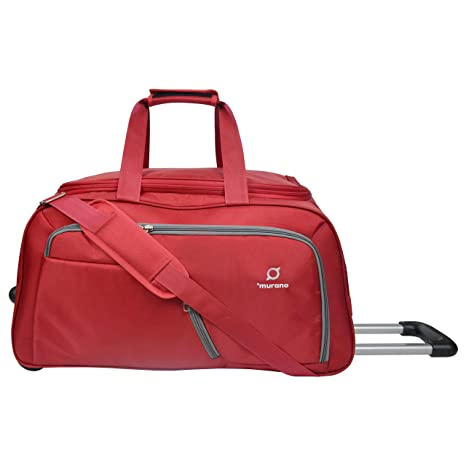 321b790c3 Murano Junio 60 cm Polyester 61 LTR Duffel Bag/Travel Bag- Red: Amazon.in:  Bags, Wallets & Luggage