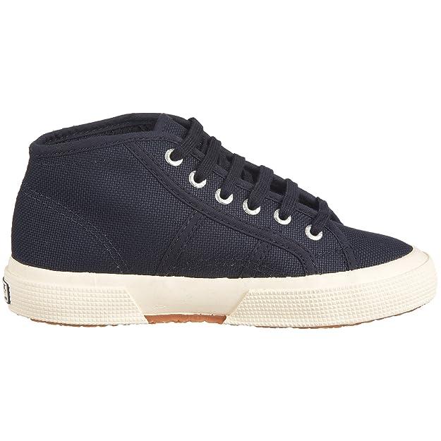 Superga 2754 Mid J - Zapatos con cierre de cordón, Azul (Blau (Navy 933)), 2.5 UK