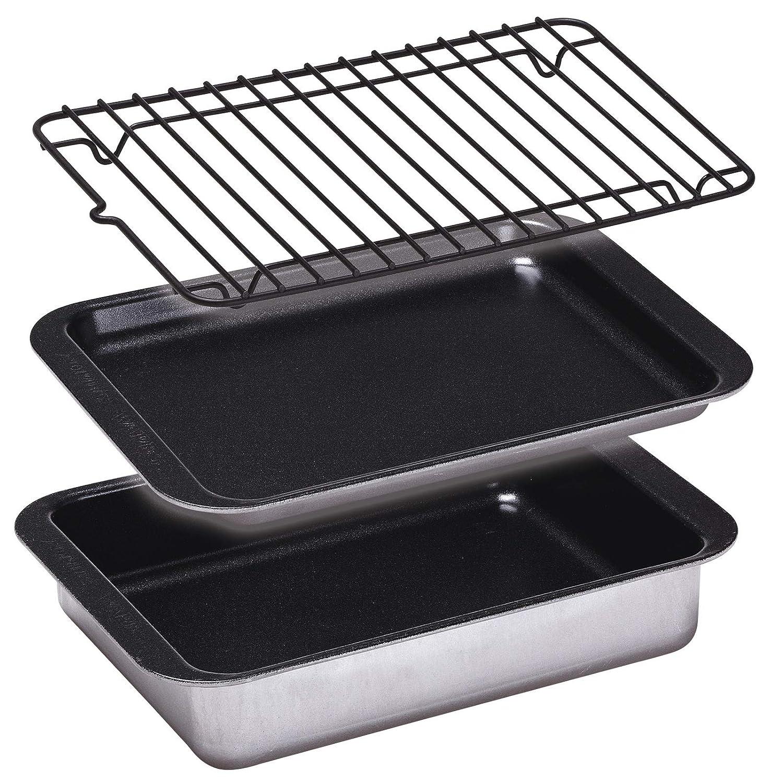 Burwells Small Roasting Tin Grill Rack Regular Countertop Mini Ovens Set Of 3