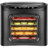 Chefman Food Dehydrator Machine, Touch Screen Electric Multi-Tier Preserver, Meat or Beef Jerky Maker, Fruit Leather, Vegetab