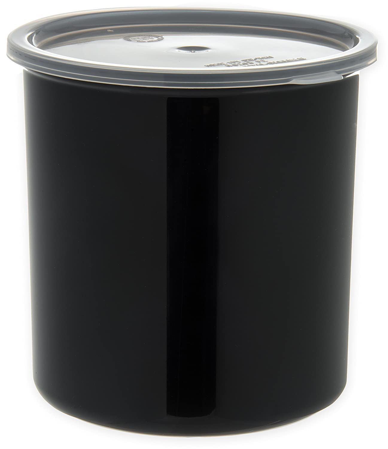 Carlisle 030203 Solid Color Commercial Round Storage Container with Lid, 2.7 Quart Capacity, Black