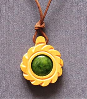 Siberian cedar wood pendant ringing cedar lucky pedant 100 original ringing cedars of russia cedar pendant the flower of sun amulet all our amulets aloadofball Gallery