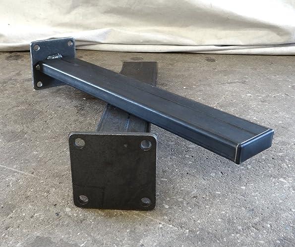 Set Of 4 Metal Rectangular Tubing Coffee Table Legs
