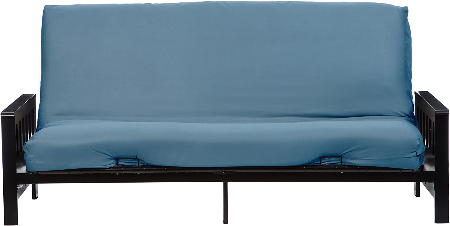 Blue Twin LCM Home Fashions Micro Suede Futon Cover