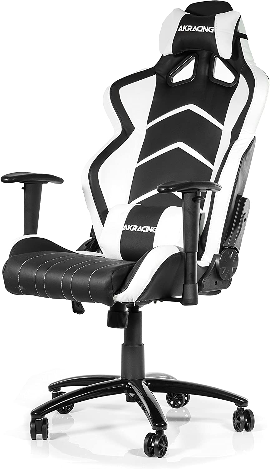 Rocker and Seat Height Adjustment Mechanisms PU Leather Tilt Swivel Recliner Green AKRacing Racing Style Desk Office Gaming Chair with High Backrest