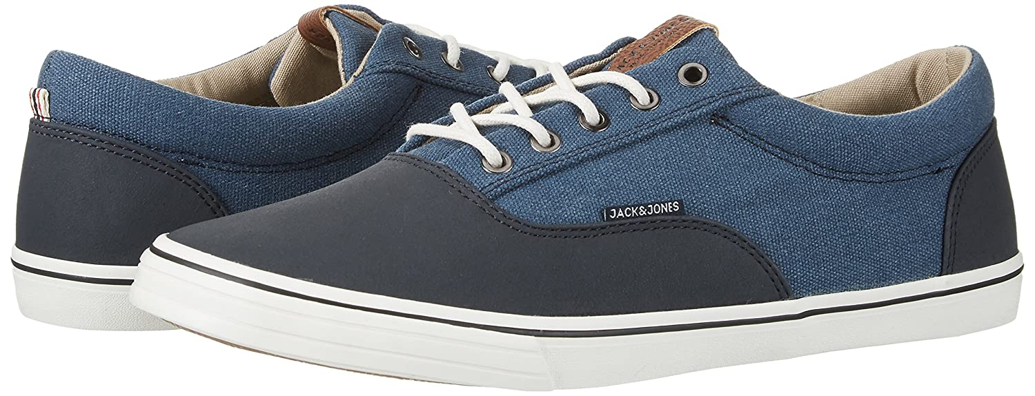 Herren Jfwvision Washed Canvas Suede Mix Navy Sneakers, Blau (Navy Blazer), 40 EU Jack & Jones
