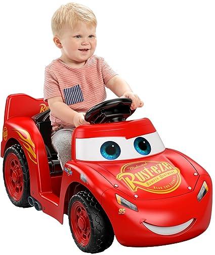 amazon com power wheels lil lightning mcqueen toys games