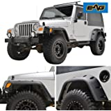 EAG Pocket Style Fender Flares With Mounting Hardware for 97-06 Jeep Wrangler TJ