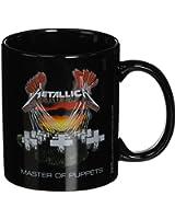 Metallica Master of Puppets Black Ceramic Mug