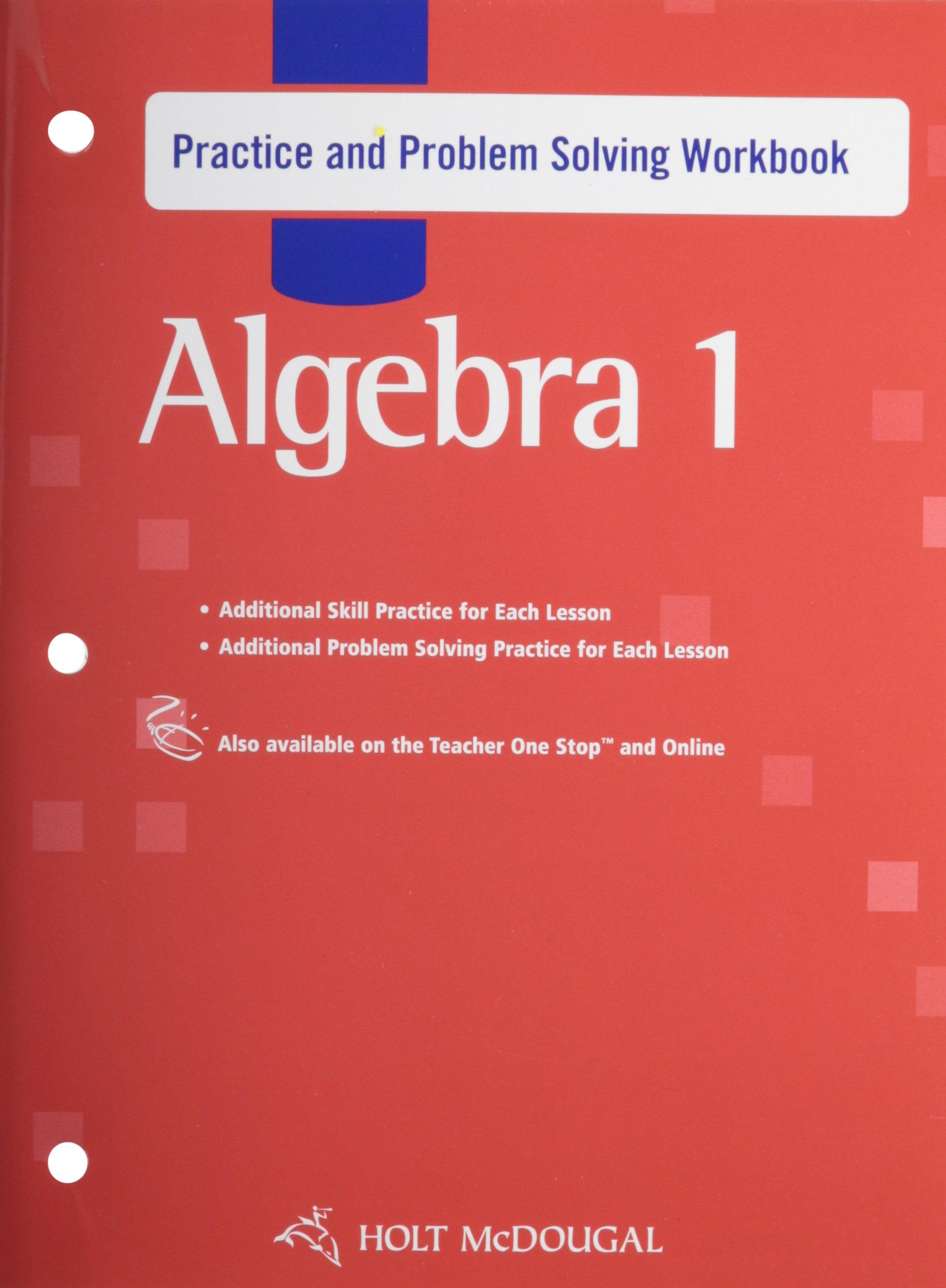 Download Holt McDougal Algebra 1 Practice and Problem Solving Workbook Algebra 1 ebook