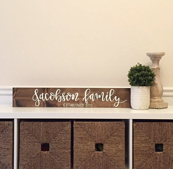 Last Name Sign Family Name Sign Home Decor Established