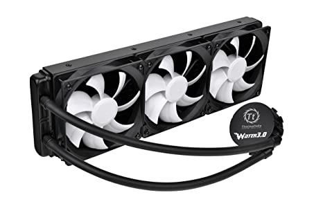 Thermaltake Water 3 0 Ultimate 360mm Aluminum Radiator Triple Curve Fans  AIO Enthusiast Liquid Cooling System CPU Cooler CL-W007-PL12BL-A