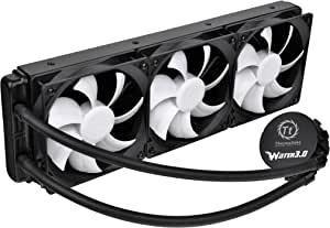 Thermaltake Water 3.0 Ultimate 360mm Aluminum Radiator Triple Curve Fans AIO Enthusiast Liquid Cooling System CPU Cooler CL-W007-PL12BL-A
