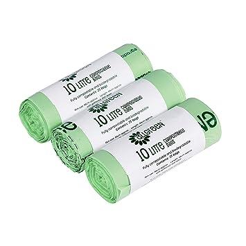 Amazon.com: All-Green - Bolsas de basura biodegradables (10 ...
