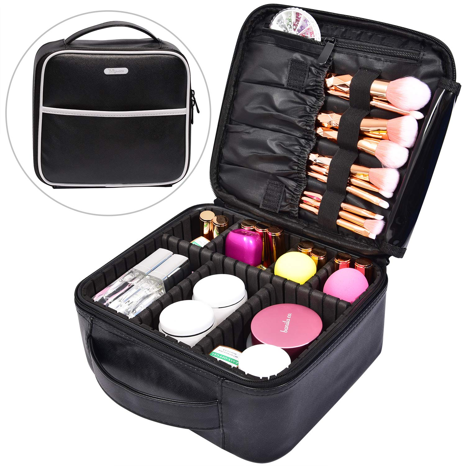 20cdef9ba099 Makeup Bag Cosmetic Leather Organizer - 10.4