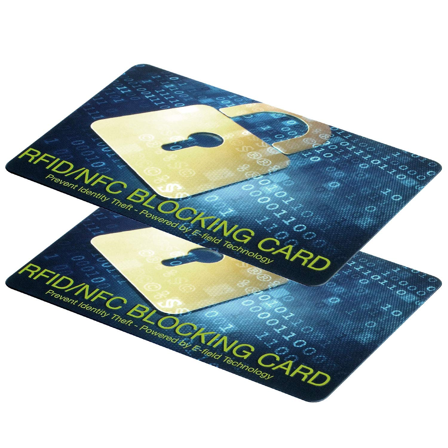 RFID Blocking Card-NFC Contactless Cards Protection for ID's, Passports and Chip Bank Cards-Theft Blocking Wallet Protector,Waterproof,Slim Design -1 Card Protects Your Entire Wallet-2 Packs by Azone