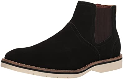 Steve Madden Men's Saine Chelsea Boot, Black Suede, ...