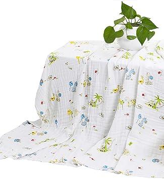 Amazon.com: MEJU - Manta para cama de 6 capas, 100% algodón ...