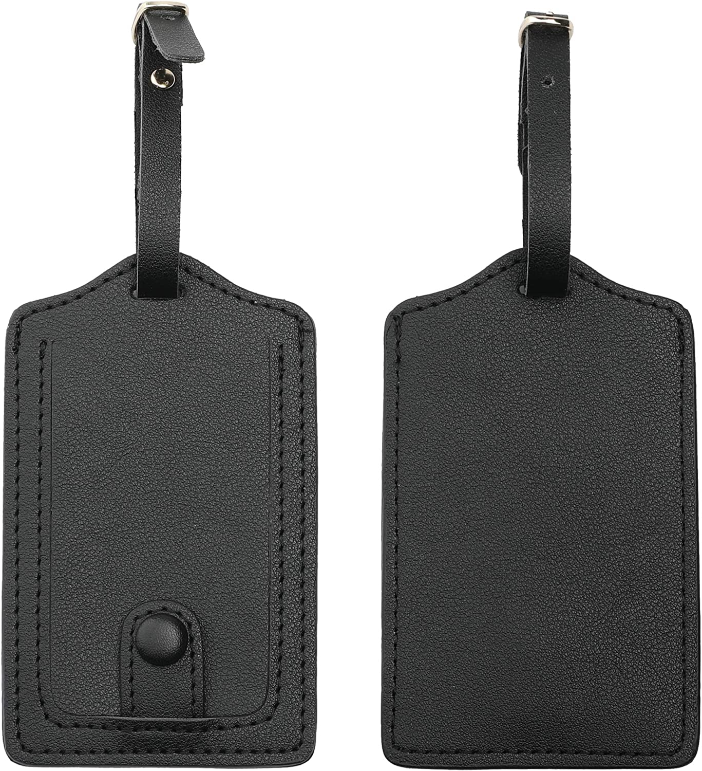 Document Leather Luggage Tags Suitcase Tag Travel Bag Labels With Privacy Cover For Men Women 2 Pack 4 Pack