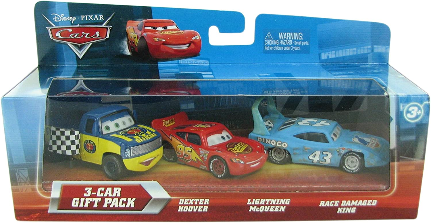 Disney / Pixar CARS Movie 155 Die Cast Cars 3Car Gift Pack The King, Tongue Lightning McQueen Chick Hicks Lenticular Eyes!: Amazon.es: Juguetes y juegos