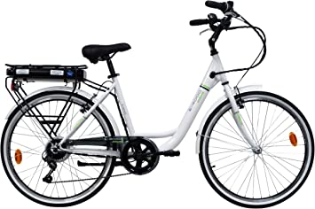 Denver Bike E4000RM-26 Bicicleta eléctrica Negro, Blanco Aluminio ...