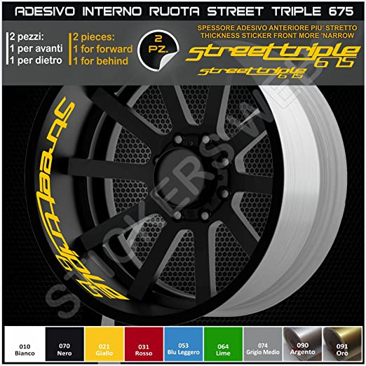 Adhesivos para interior de ruedas de Triumph Street Triple 675, calcomanías para llantas 0295 021