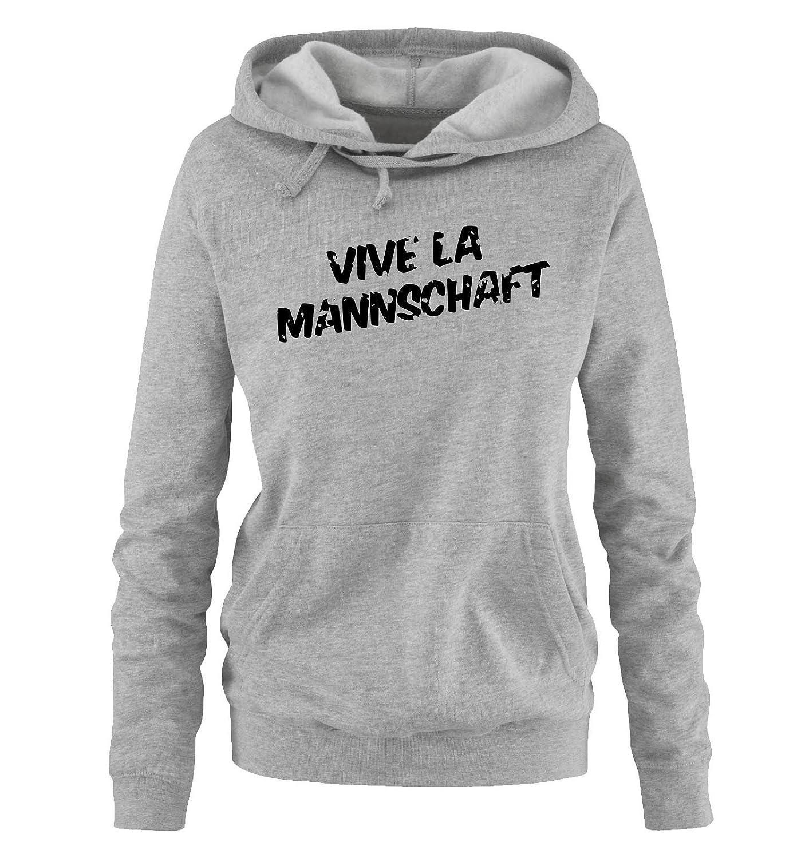 Comedy Shirts EM 2016   Deutschland   Mannschaft   Vintage - Damen Hoodie