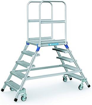Zarges base de escaleras, a ambos lados de 5 niveles Z600: Amazon.es: Bricolaje y herramientas