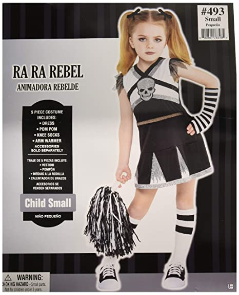 AMSCAN Rah Rah Rebel Cheerleader Halloween Costume for Girls, Small, with Included Accessories