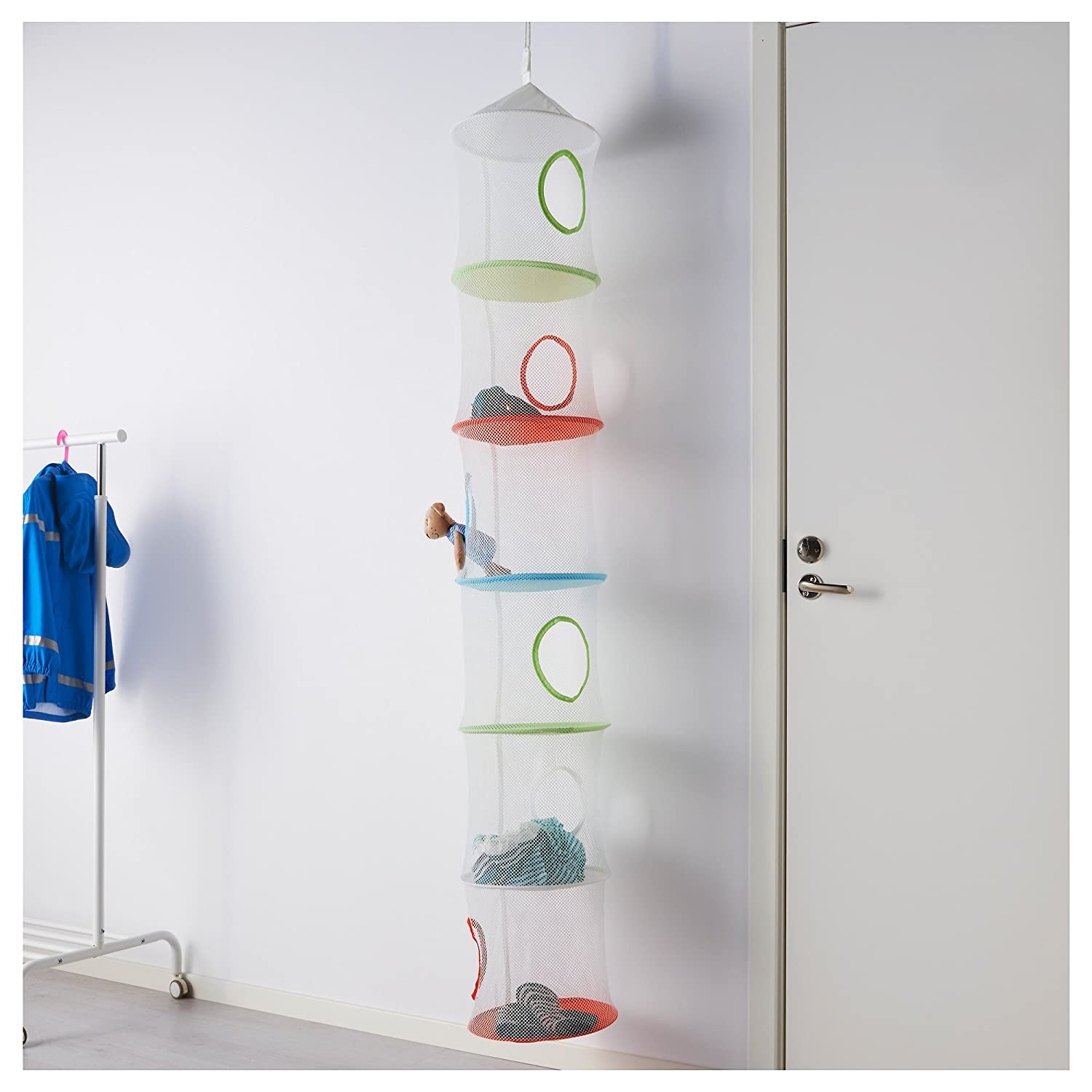 ikea ikea ps fangst hanging storage w multicolour amazoncouk kitchen u home with hanging stuffed animal organizer. & Hanging Stuffed Animal Organizer. Image Is Loading With Hanging ...