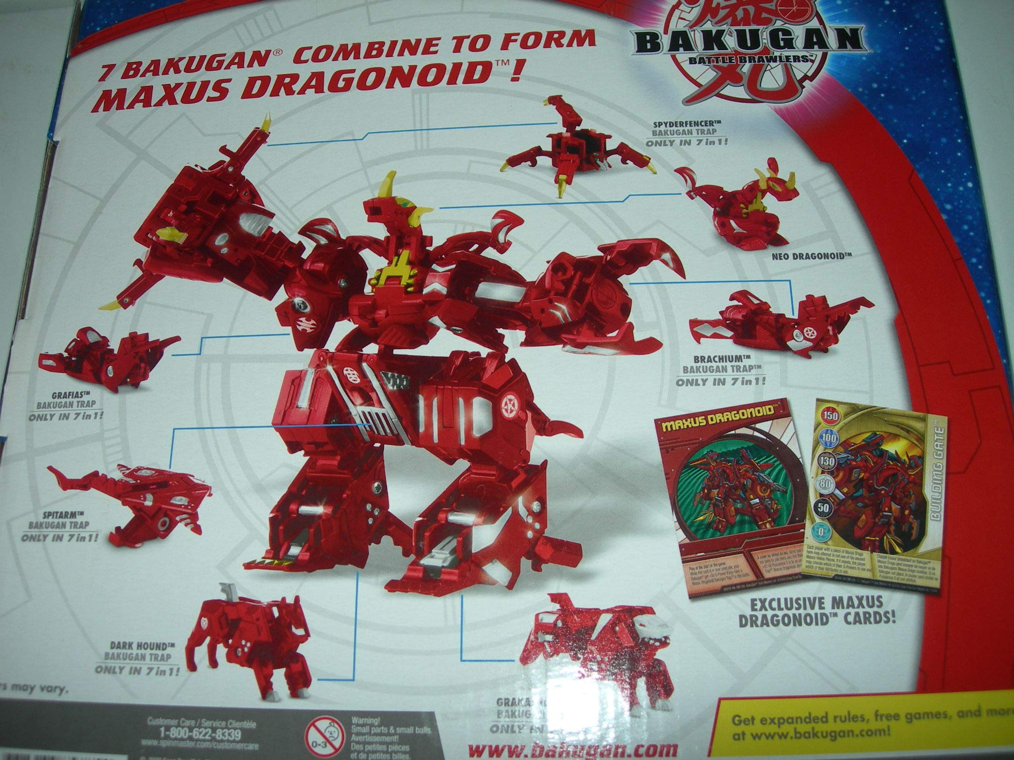 Bakugan 7 in 1 Maxus Dragonoid