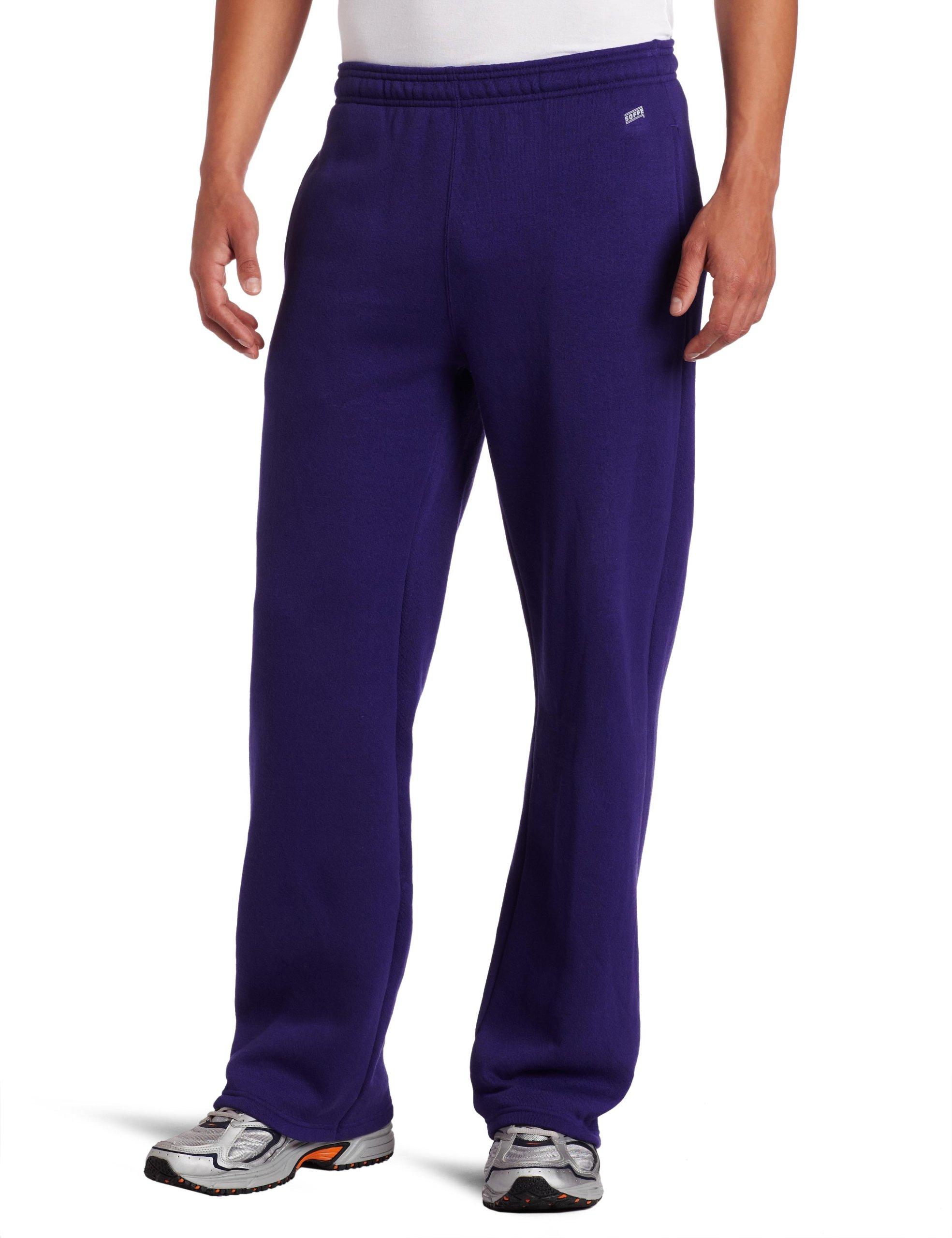 Soffe MJ Men's Training Fleece Pocket Pant, Purple, Small