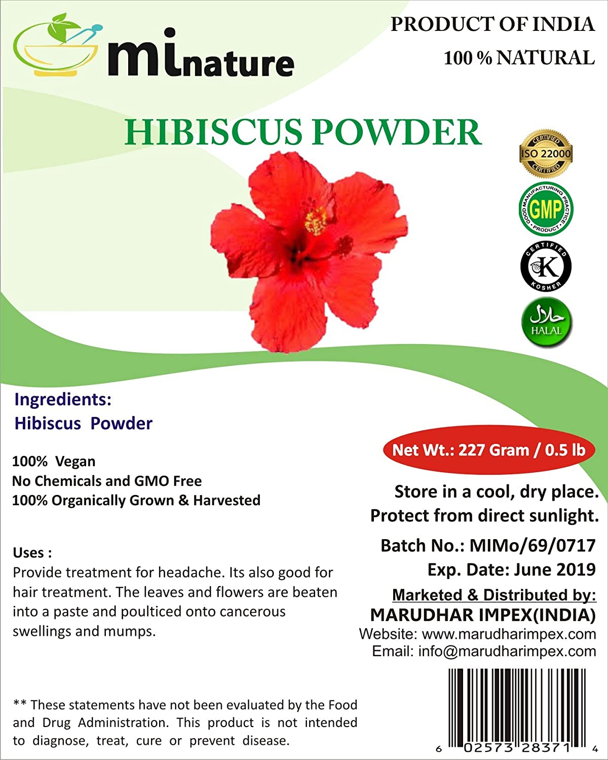 Amazon mi nature usda certified hibiscus powdersabdariffa amazon mi nature usda certified hibiscus powdersabdariffa 100 pure natural and organic for hairskin and health 227g 12 lb 8 ounces izmirmasajfo Image collections