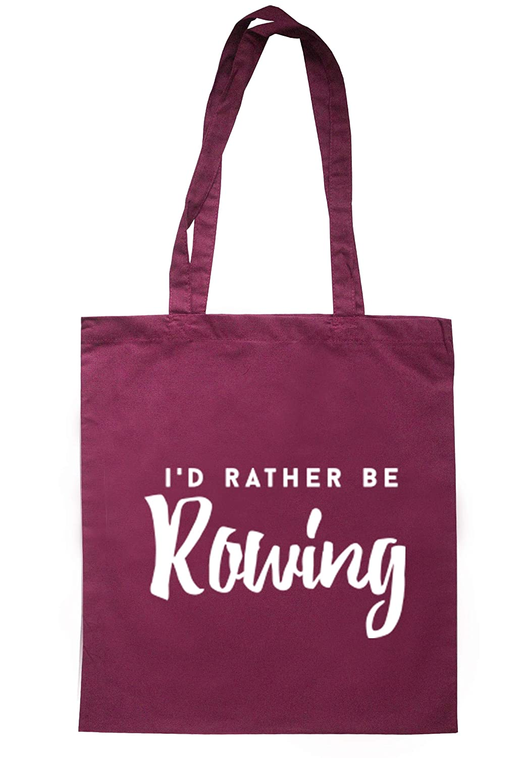 illustratedidentity I'd Rather Be Rowing Tote Bag 37.5cm x 42cm with long handles TB0165-TB-NV