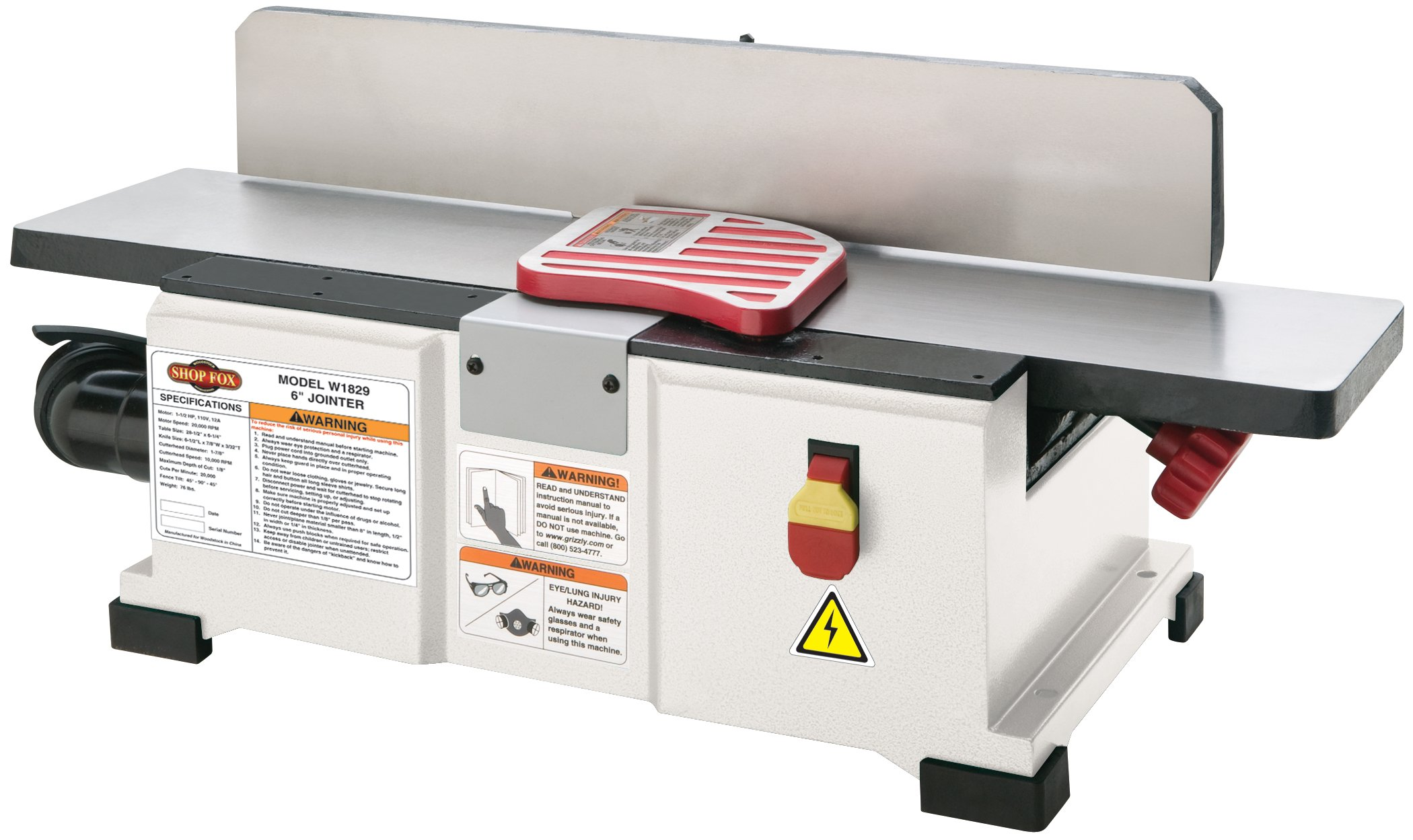 Shop Fox W1829 Benchtop Jointer, 6-Inch by Shop Fox (Image #1)