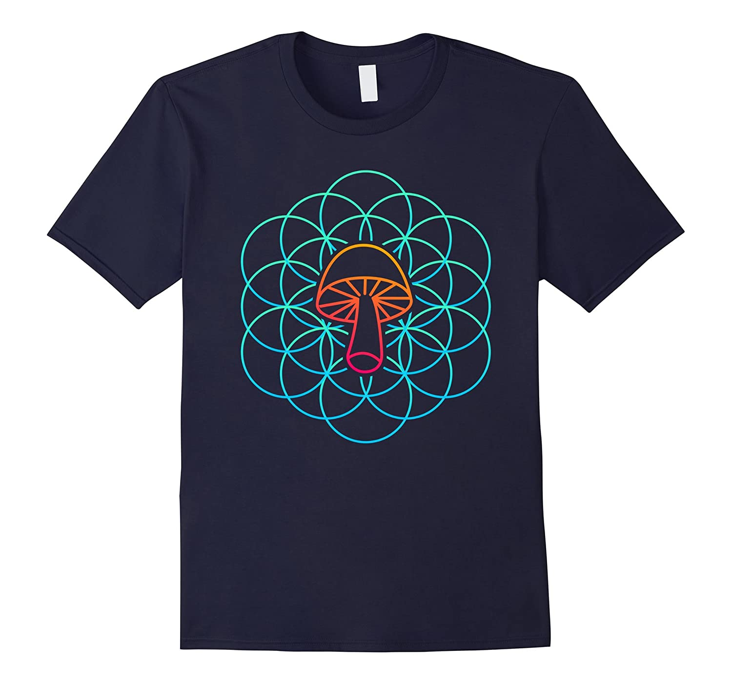 Sacred Geometry Mushroom Mycology T-Shirt-T-Shirt