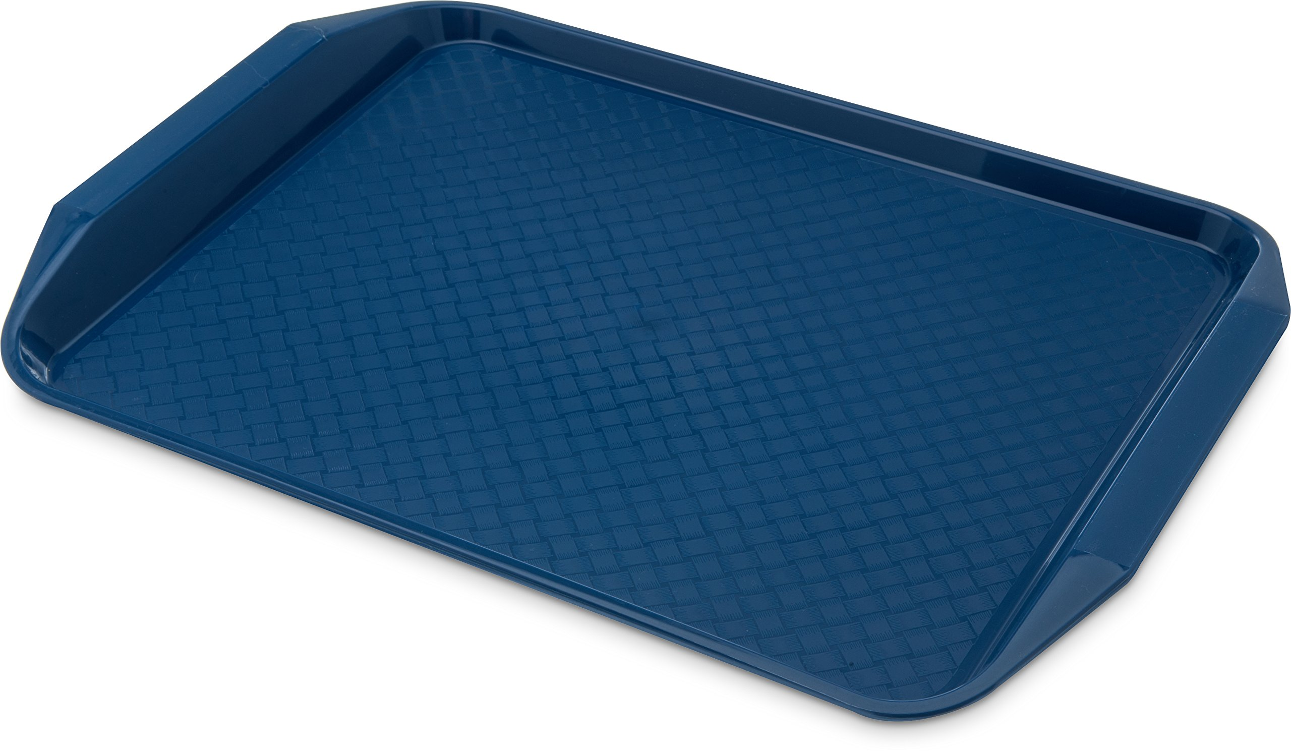 Carlisle CT121714 Cafe Handled Plastic Cafeteria/Fast Food Tray, NSF Certified, BPA Free, 17'' Length x 12'' Width, Blue (Pack of 24) by Carlisle (Image #1)