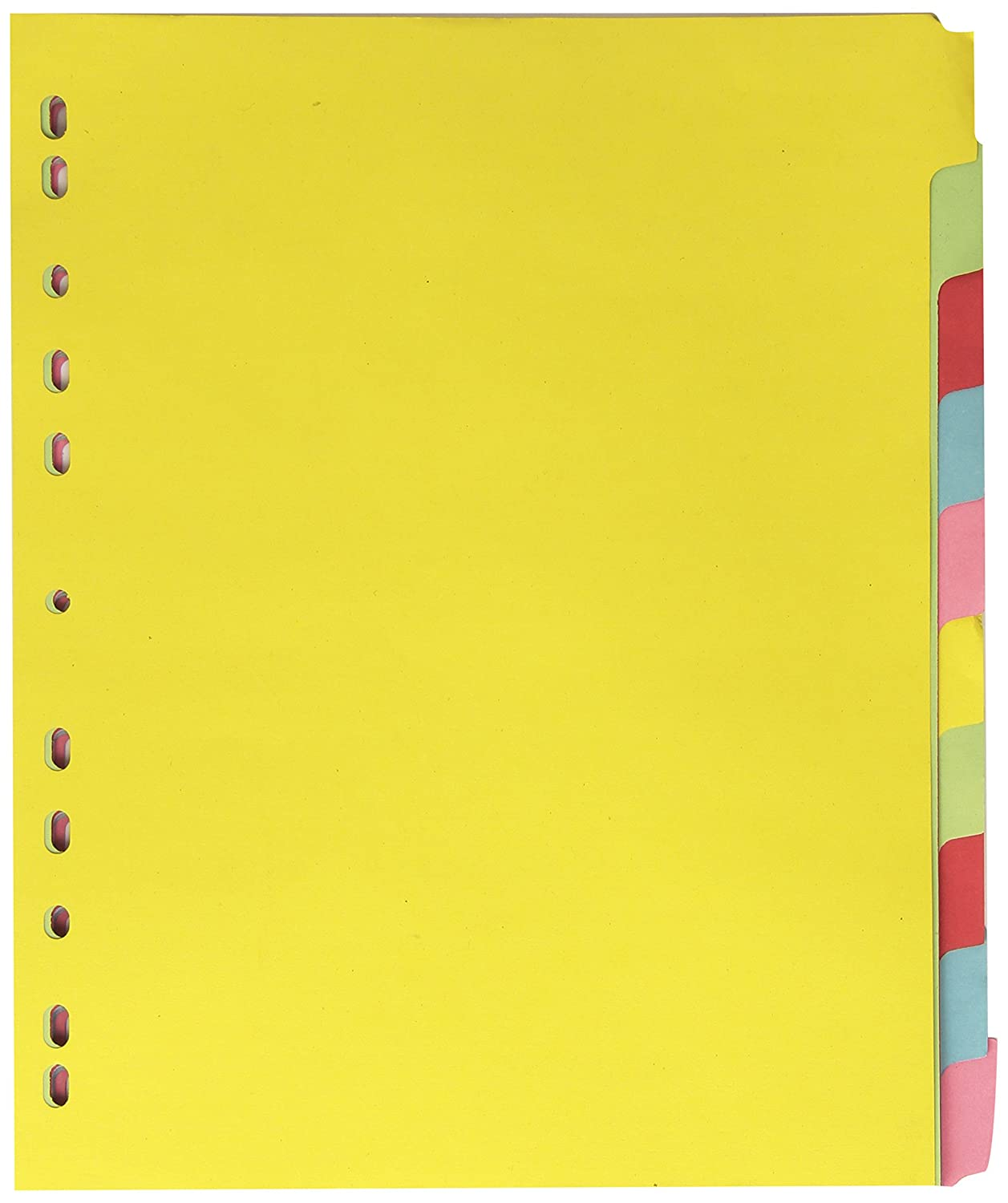 Elba A4 Extra-Wide 10-Part Card Divider - Assorted (3)